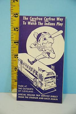 Rare 1950's Cleveland Indians CTS Bus Ride Fares to Road Games Schedule