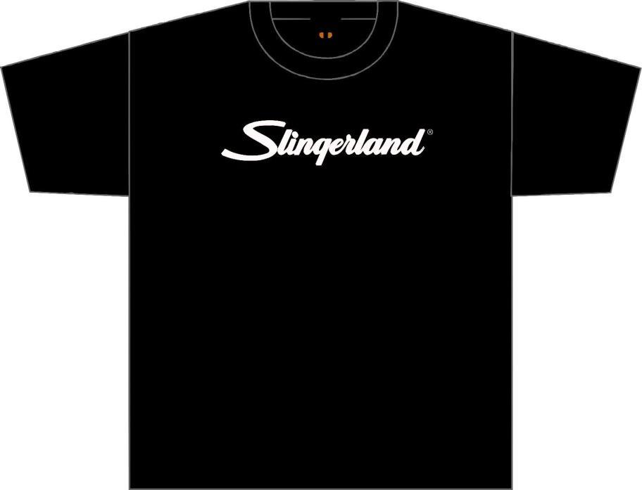 Slingerland  T Shirt...Black. with white lettering..Medium size