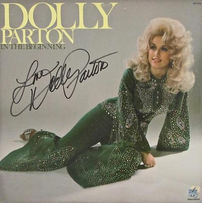 DOLLY PARTON SIGNED AUTOGRAPH LP ALBUM -IN THE BEGINNING