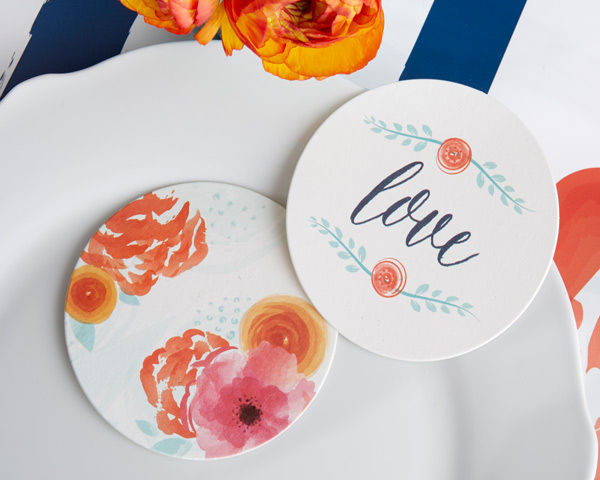 220 In Bloom Floral Paper Coasters Wedding Bridal Shower Decorations Lot Q35479