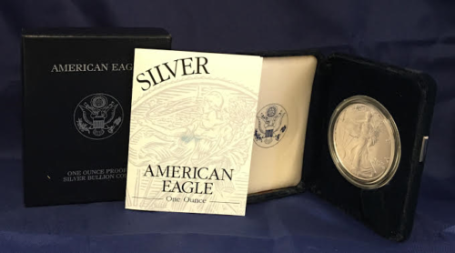 1999 Proof American Silver Eagle (ASE) Silver Dollar in OGP (ASE1999)