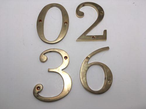 Brass House Numbers Door Mailbox-0-2-3-6