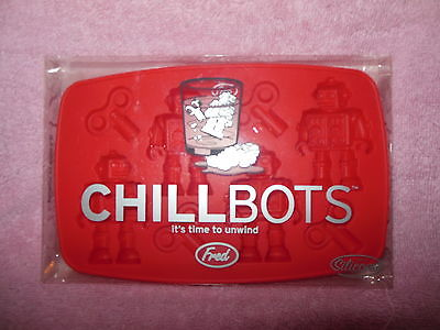 FRED 'CHILLBOTS' SILICONE ROBOTS CRAFT CANDY CHOCOLATE ICE CUBES MOLD NIB