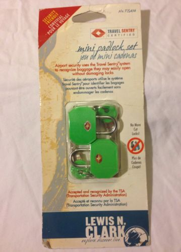 Lewis N. Clark TSA Mini Padlock 2 Pack, Green