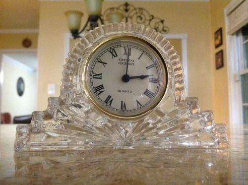 crystal legends by godinger clock