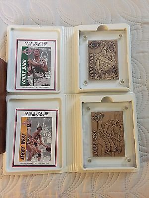 13 Bronze Highland Mint Cards - Mantle, Magic, West, Bird, Etc.