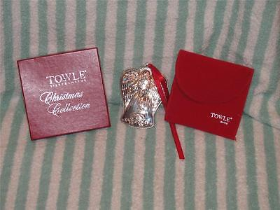 Boxed199 Towle Sterling Silver Christmas Angle Violin Ornament Pendant Medallion