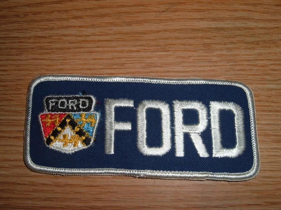 VINTAGE FORD CAR TRUCK EMBROIDERED PATCH BLOCK LETTERS