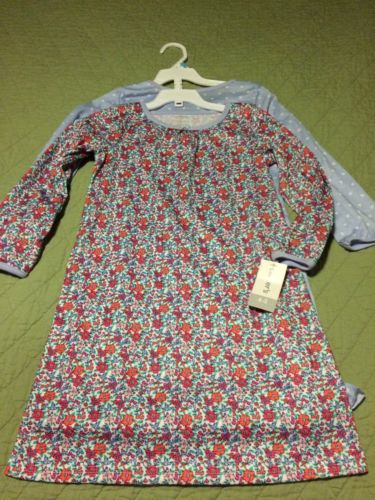 ?? NWT Carter's Girls Size 4 - 5 4T 5T Small Nightgown Pajamas Lot, Blue Floral