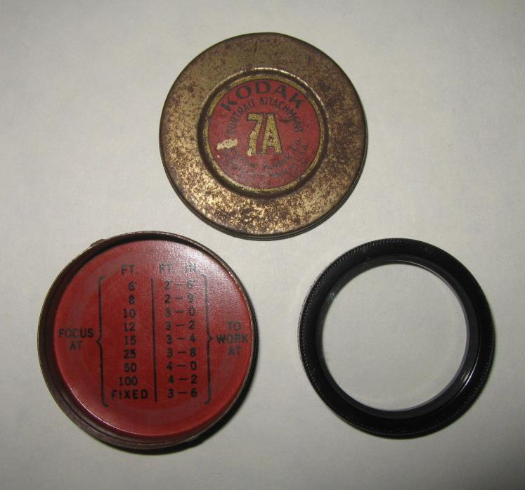 Vintage Kodak Camera No. 7A Portrait Attachment Lens Cover In 1.75