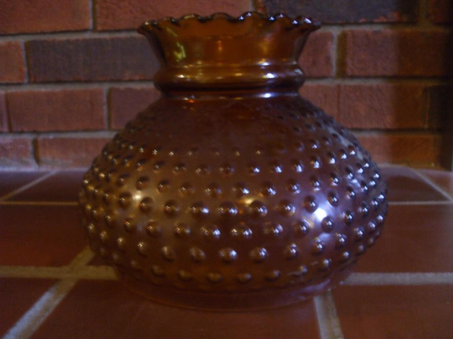 Hobnail Amber Globe Shade.  Excellent Condition