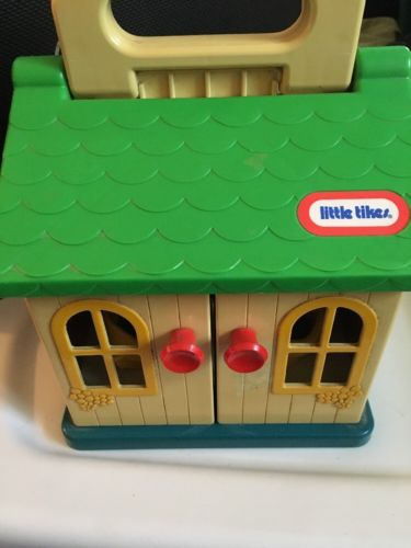Vintage Little Tikes Cozy Cottage Doll Play Folding House Handle Rocking Chairs