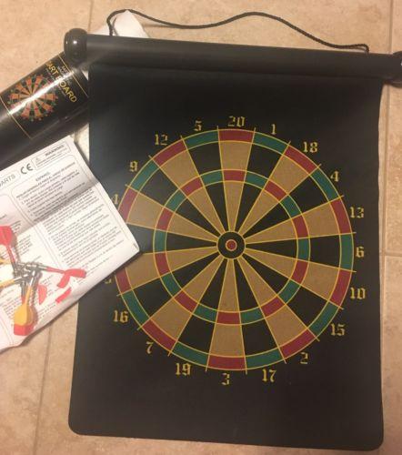 MAGNETIC DART BOARD Game Safe 6 Darts Set Indoor Child Safety Dardboard Play