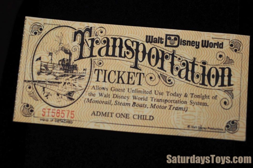 Oct 1971 Walt Disney World Child TRANSPORTATION TICKET Vintage Original ST58575