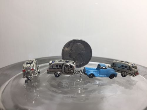 FREE SHIPPING • Z SCALE (2) TWO CAMPER TRAILERS (pickup truck sold separately)