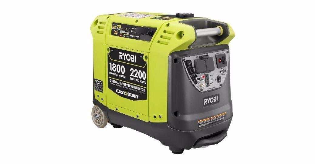 Ryobi 2,200Watt Green Gasoline Powered Digital Inverter Generator