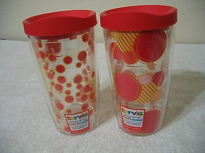 Tervis 16Oz  Floral Tumbler - (Set of 2 - Dandelion and Circles) - Matching Lids