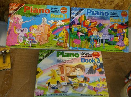 3 books of Piano  Progresive #1#2#3 R2S1