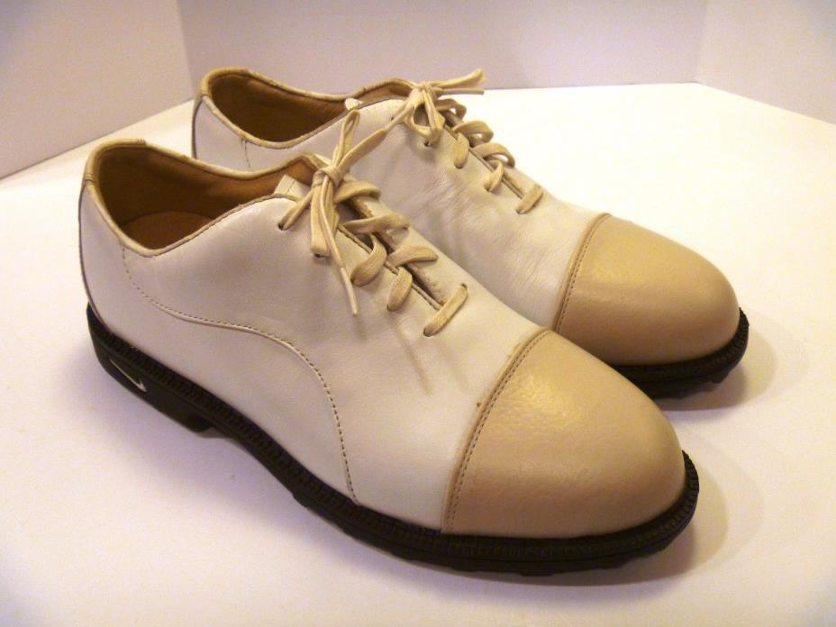 Nike Air Comfort Bella Last Womens US Size 8 Golf Shoes Cream Tan Saddle Style