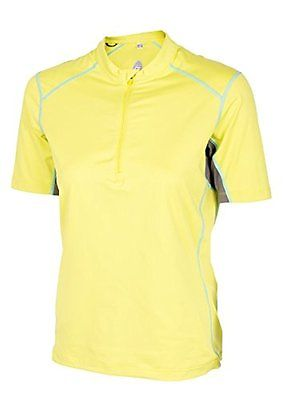 Club Ride Women's Promenade Short Sleeve Cycling Jersey XL Sulphur