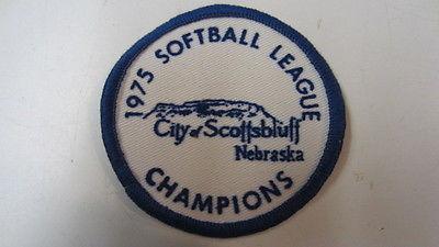 Vintage 1975, Softball league Champions, Scottsbluff, Nebraska Patch