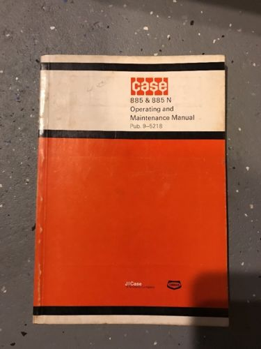 CASE 885 885N Tractor Operation Maintenance Manual 9-5218