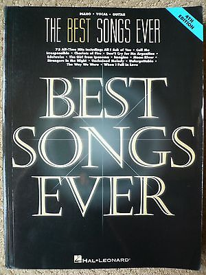 The Best Songs Ever, Piano, Vocal, Guitar Songbook, Sheet Music, 4th Edition