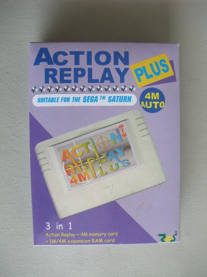 Sega Saturn Action Replay Plus CIB