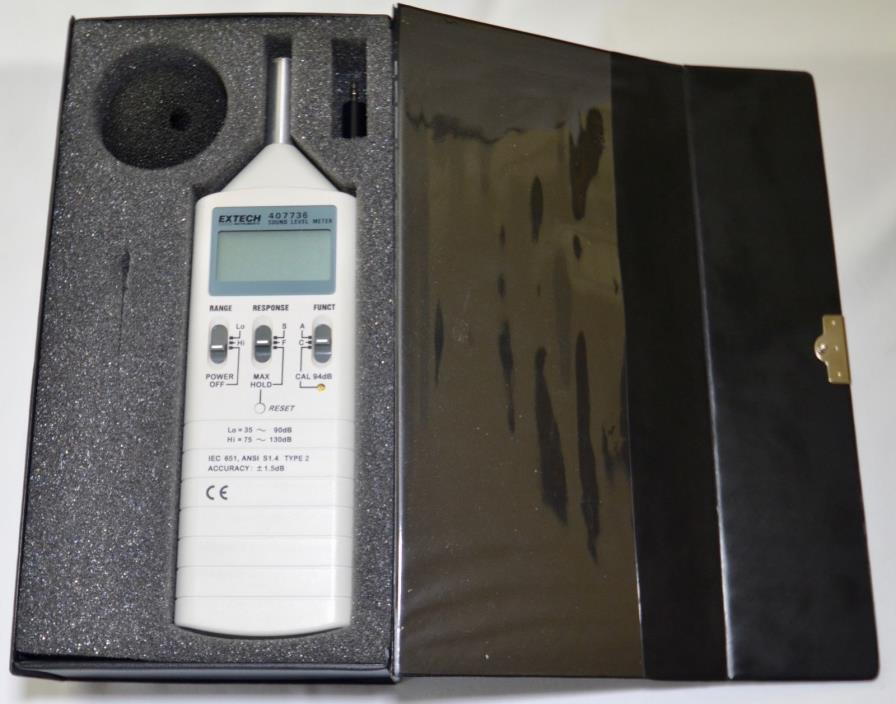 EXTECH 407736 SOUND LEVEL METER