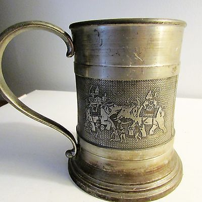 King's Pewter Mug, Thailand, Etain 97% Tin, 4 3/8