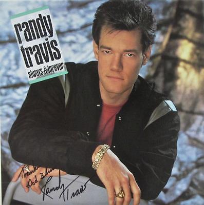 RANDY TRAVIS SIGNED AUTOGRAPH LP ALBUM -ALWAYS & FOREVER