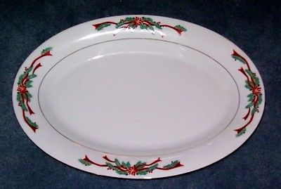 TIENSHAN FAIRFIELD POINSETTIA AND RIBBONS PLATTER 2 AVAILABLE