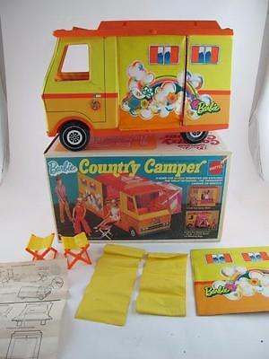 Vintage 1970 Barbie Country Camper RV in the Original Box Van Tent Mattel Rare