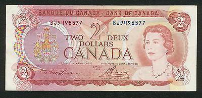 1974 Bank of Canada $2 two dollars Lawson Bouey prefix BJ