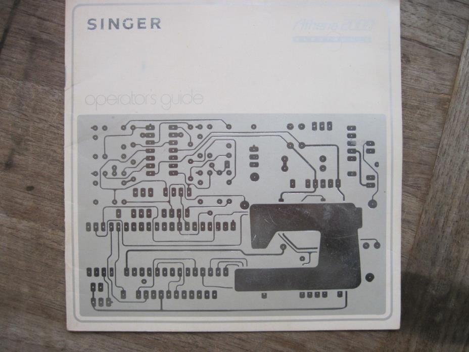 Singer Athena 2000 Sewing Machine Operators Guide, 20 page Booklet