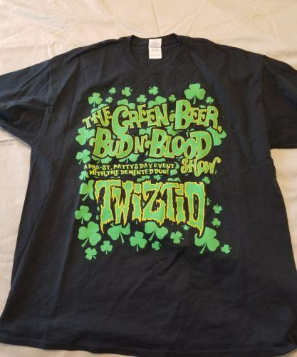 Twiztid St Patrick's Day T-shirt XL insane clown posse Irish horror tech n9ne