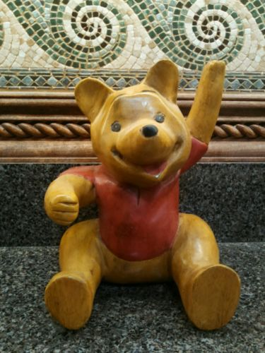 Classic Winnie the Pooh Carved Wooden Large Figure - Decor Direct