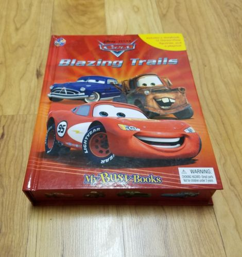 Disney Pixar Cars My Busy Book Blazing Trails. Rare  great condition complete