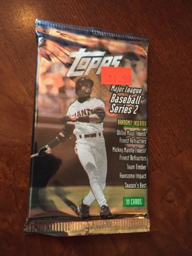 1998 Baseball Topps Series 2, Pack,(1) Sealed Pack,Jeter!