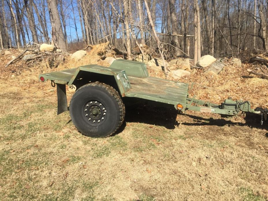 Military Army Trailer Flatbed 37'' Tires Pintle hitch