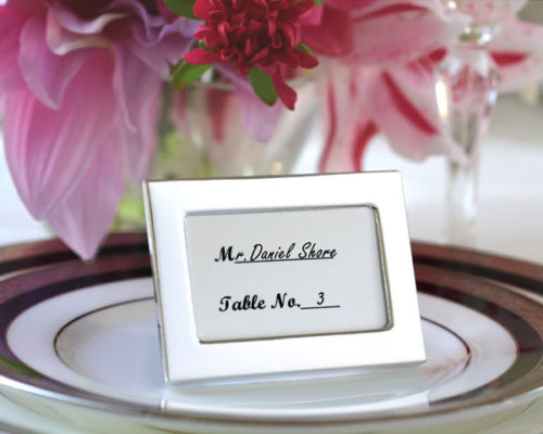 72 Silver Miniature Place Card Frames Wedding Favors Q31698