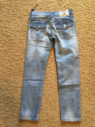 TRUE RELIGION Girls SKINNY Skinny Leg Light Wash Jeans Size 8 x  ~NWT~