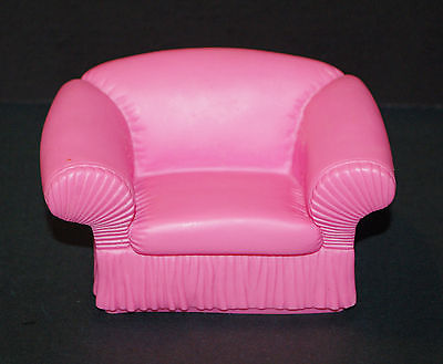Vtg 1988 MTC Barbie Doll House Furniture Pink Rubber Arm Chair
