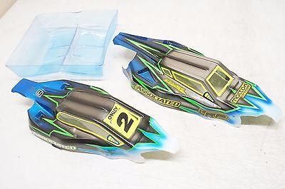 (2) Associated B5m Custom Painted body shell race spec Lite airbrush Mattox