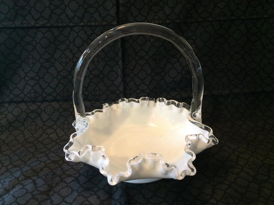 Vintage Fenton Silvercrest white basket