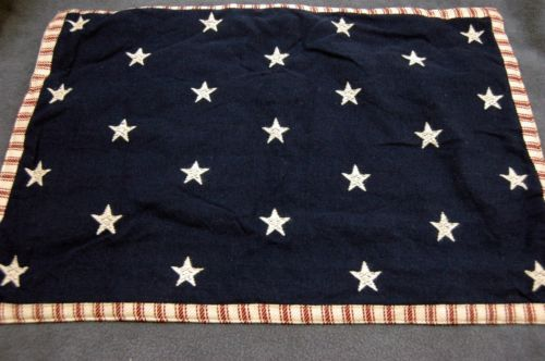 Americana July 4 Red White Blue Stars Stripes Runner Ticking