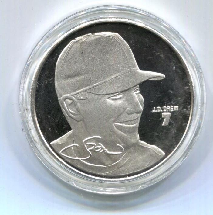 J.D. DREW Major League Baseball Limited Edition Coin .999 Fine Silver 1 Troy OZ