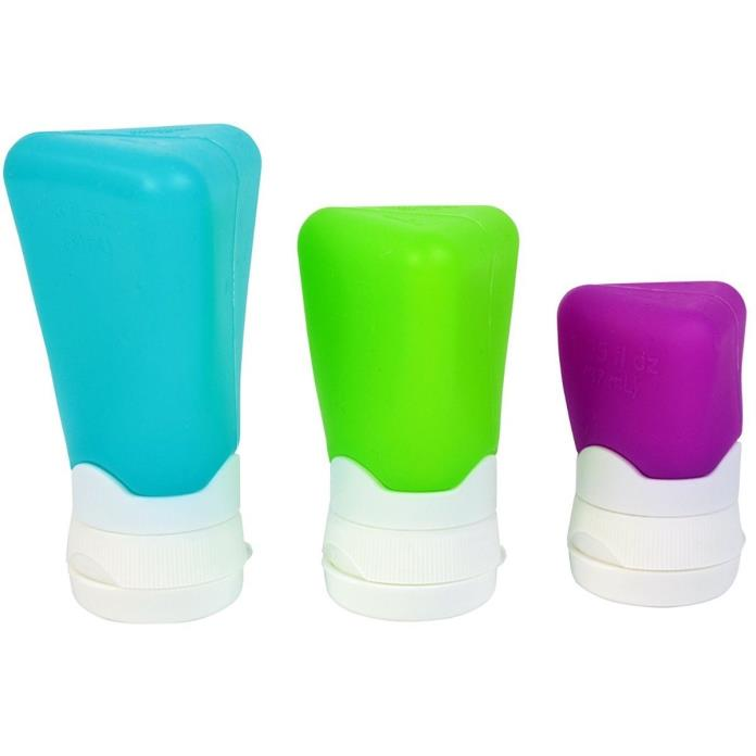 Cool Gear Go-Gear Silicone Travel Containers, Assorted Sizes, 3-Pack
