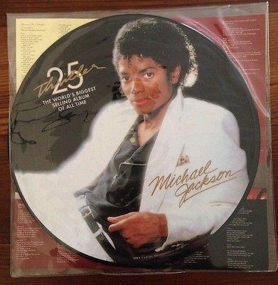 Micheal Jackson Thriller 25th Anniversary Picture Disc Vinyl LP +