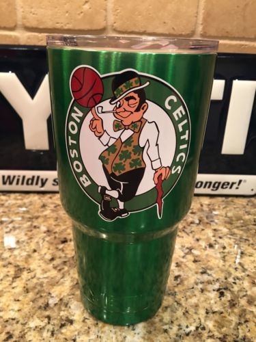 Celtics YETI Rambler Tumbler 30oz--Powder Coated Candy Green BOSTON CELTICS